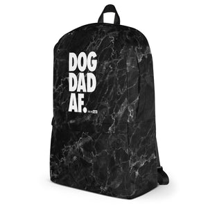 Dog Dad AF Black Marble: Backpack