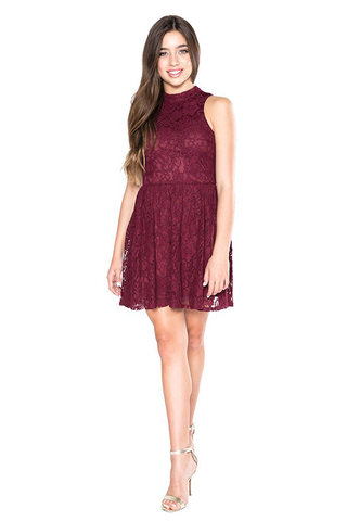 "Elisa B ""Burgundy Knit Dress"""