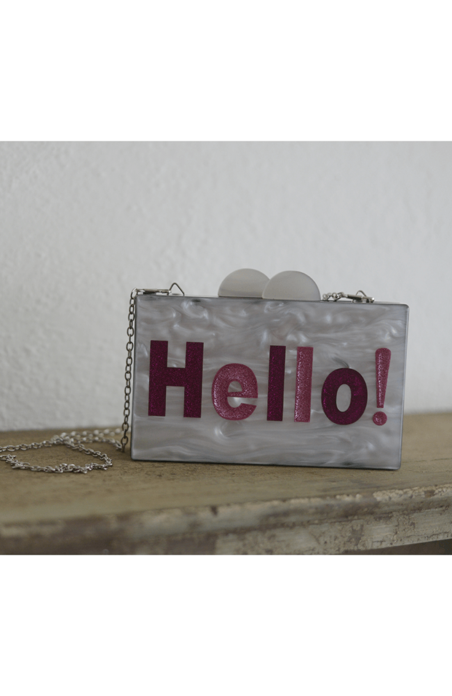 "Bari Lynn ""Hello"" Chain Purse"