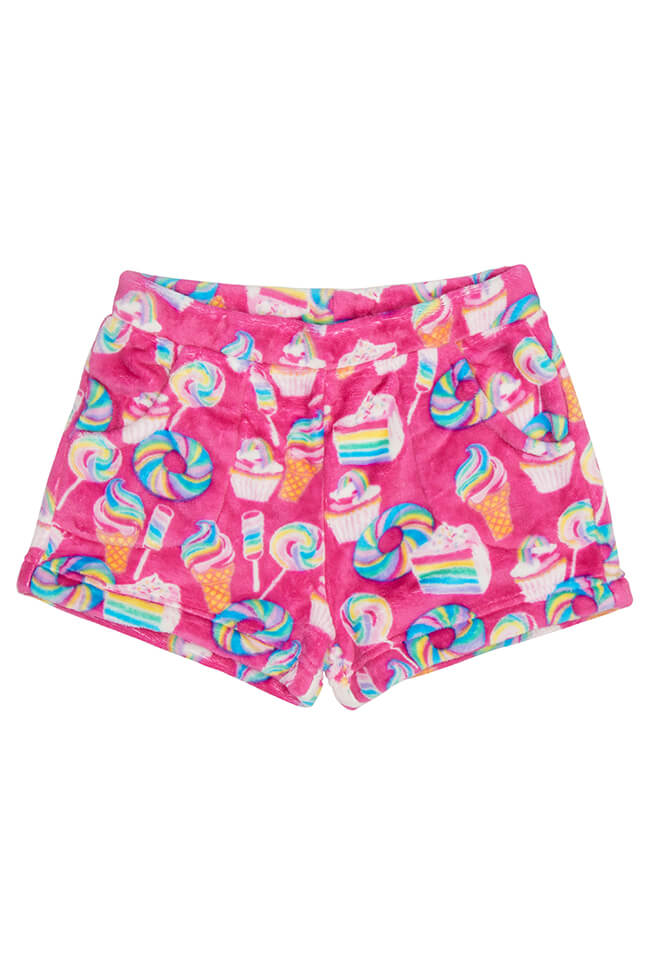 "Candy Pink ""Rainbow Food"" Short"