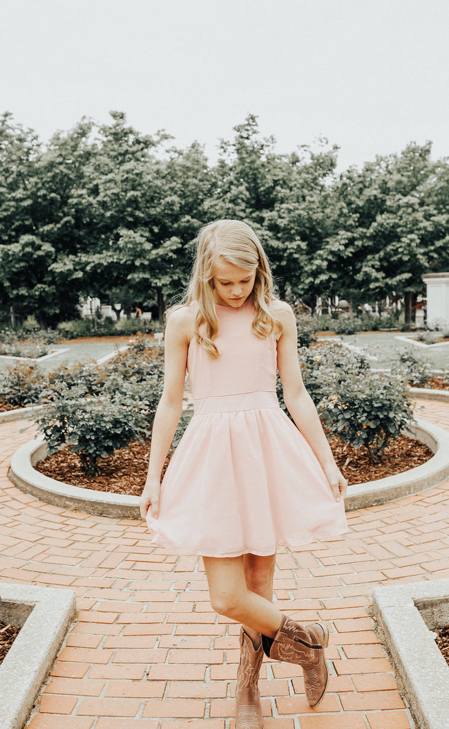 "Girls Tween ""Camilla"" Dress - Light Pink"