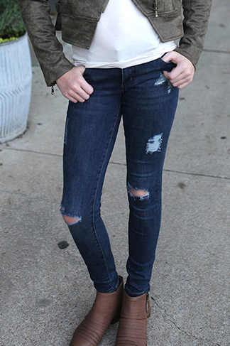 Girls Distressed Jeans