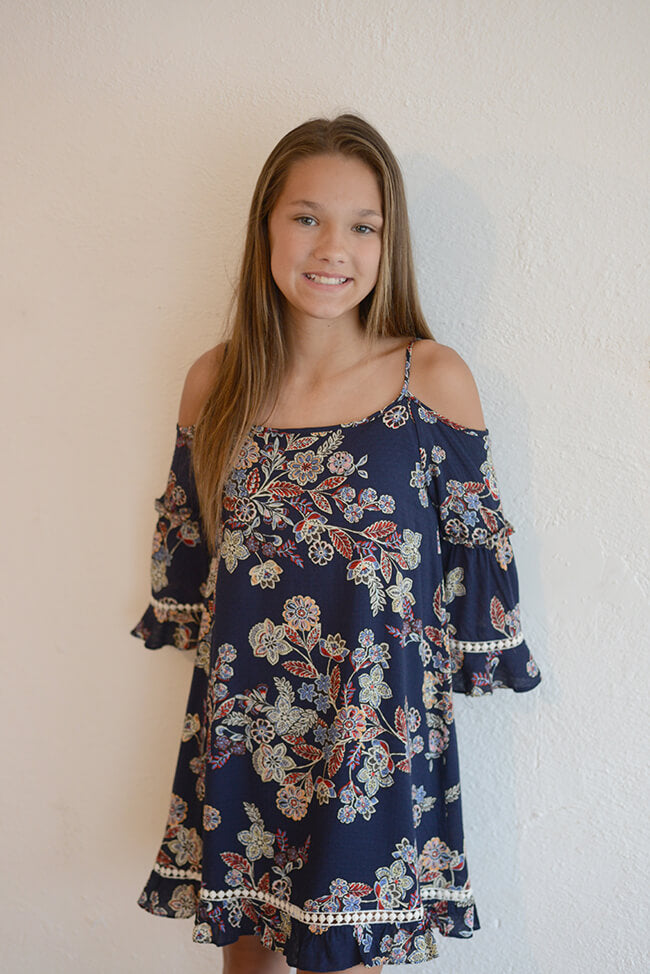 "Kiddo ""Cold Shoulder Dress"""