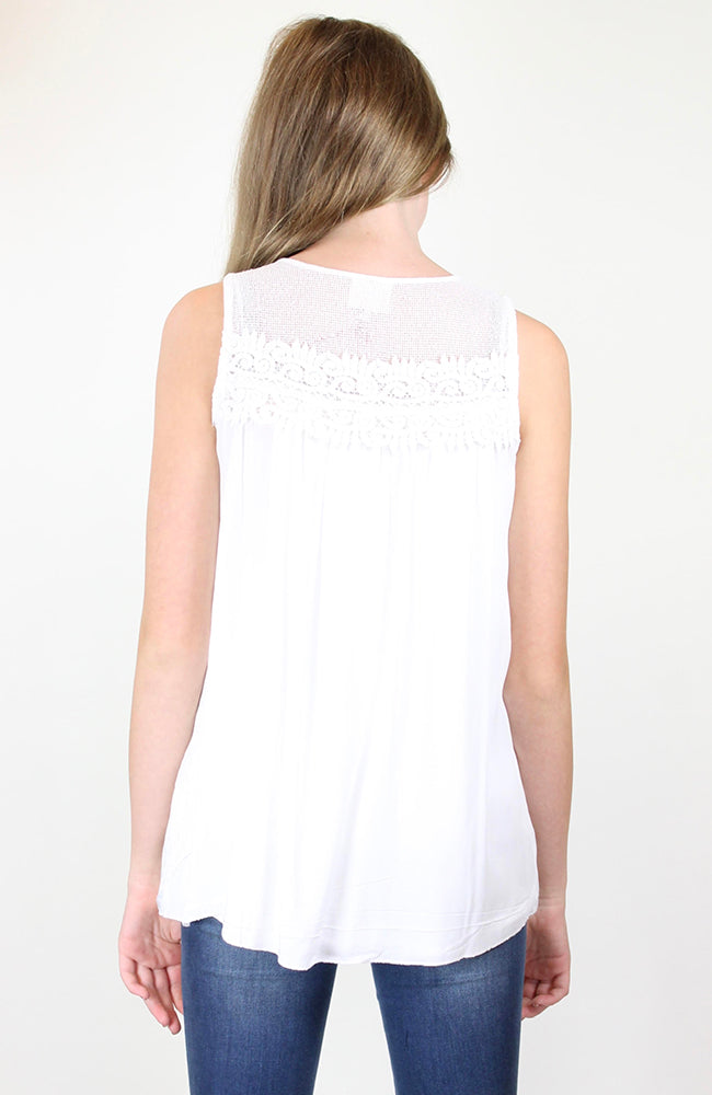 """Lace Baby Doll Tank Top"" by Hayden Girls, LA"