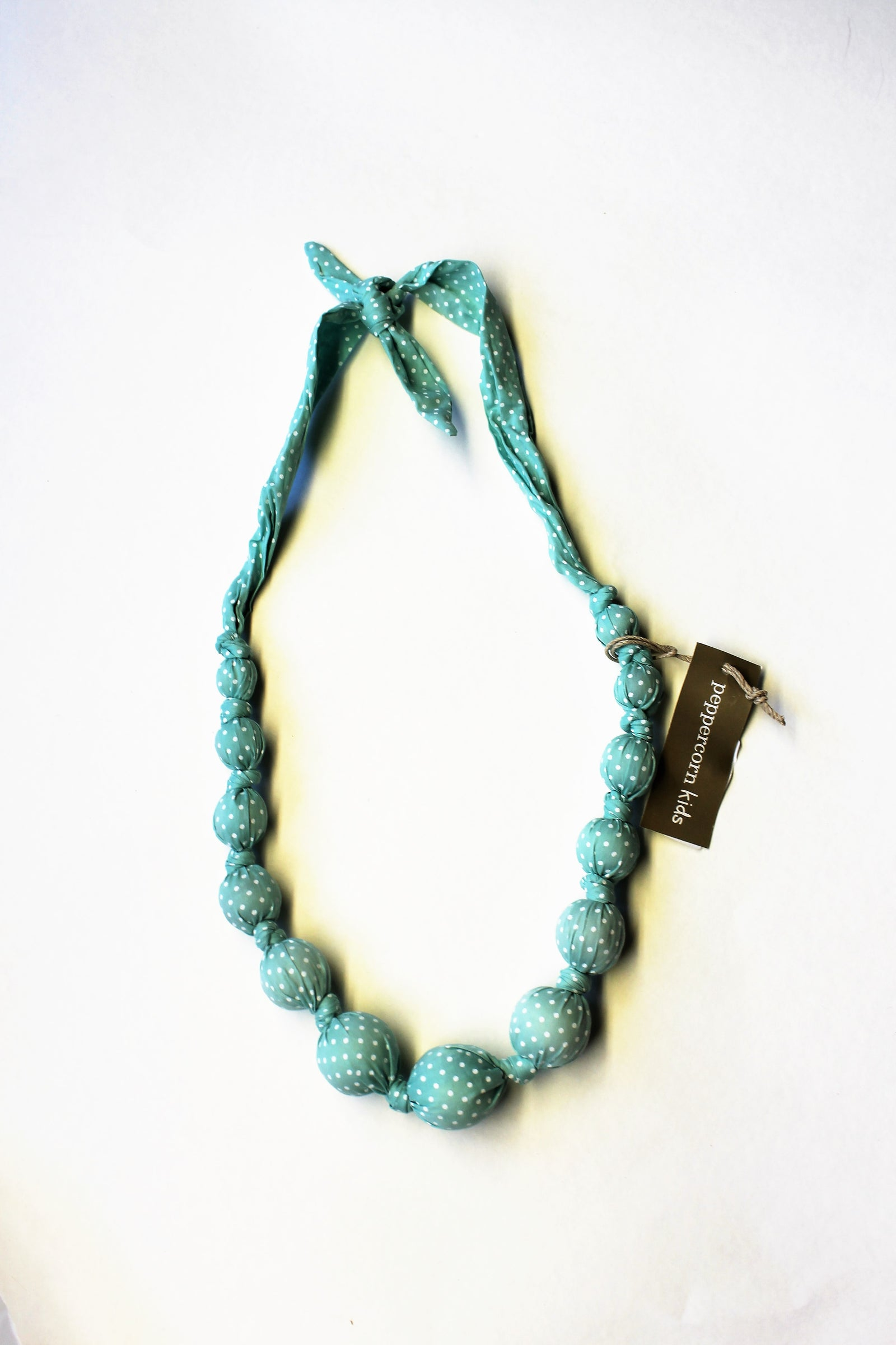 Mint Frosting Beaded Cloth Necklace Sprinkle Dots by Peppercorn Kids