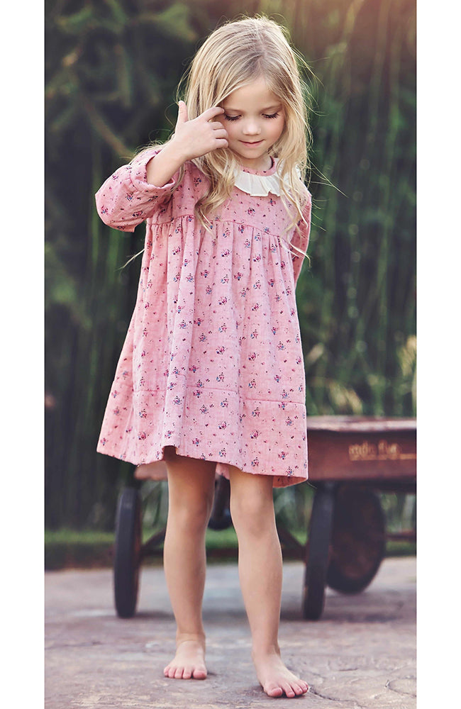 Polly Pink Floral Dress