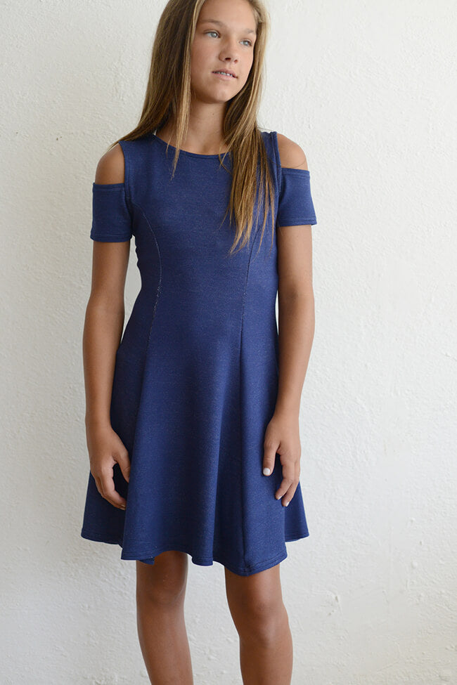 "Rosie G ""Girls Denim Cutout Dress"""