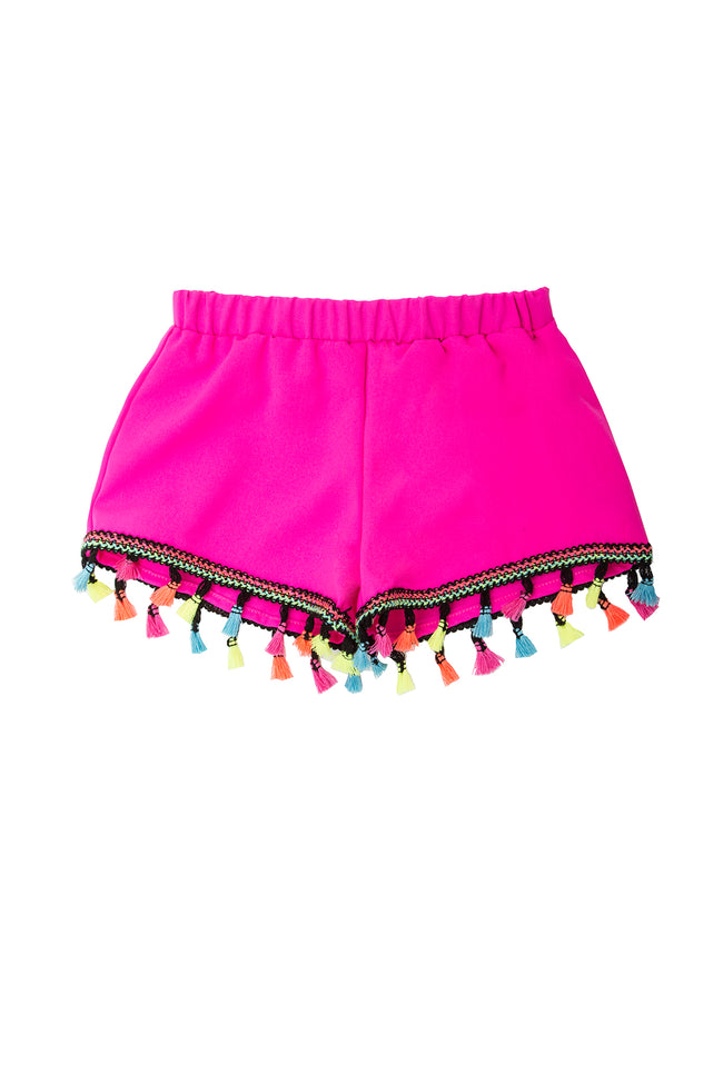 Girls Pom Pom Short