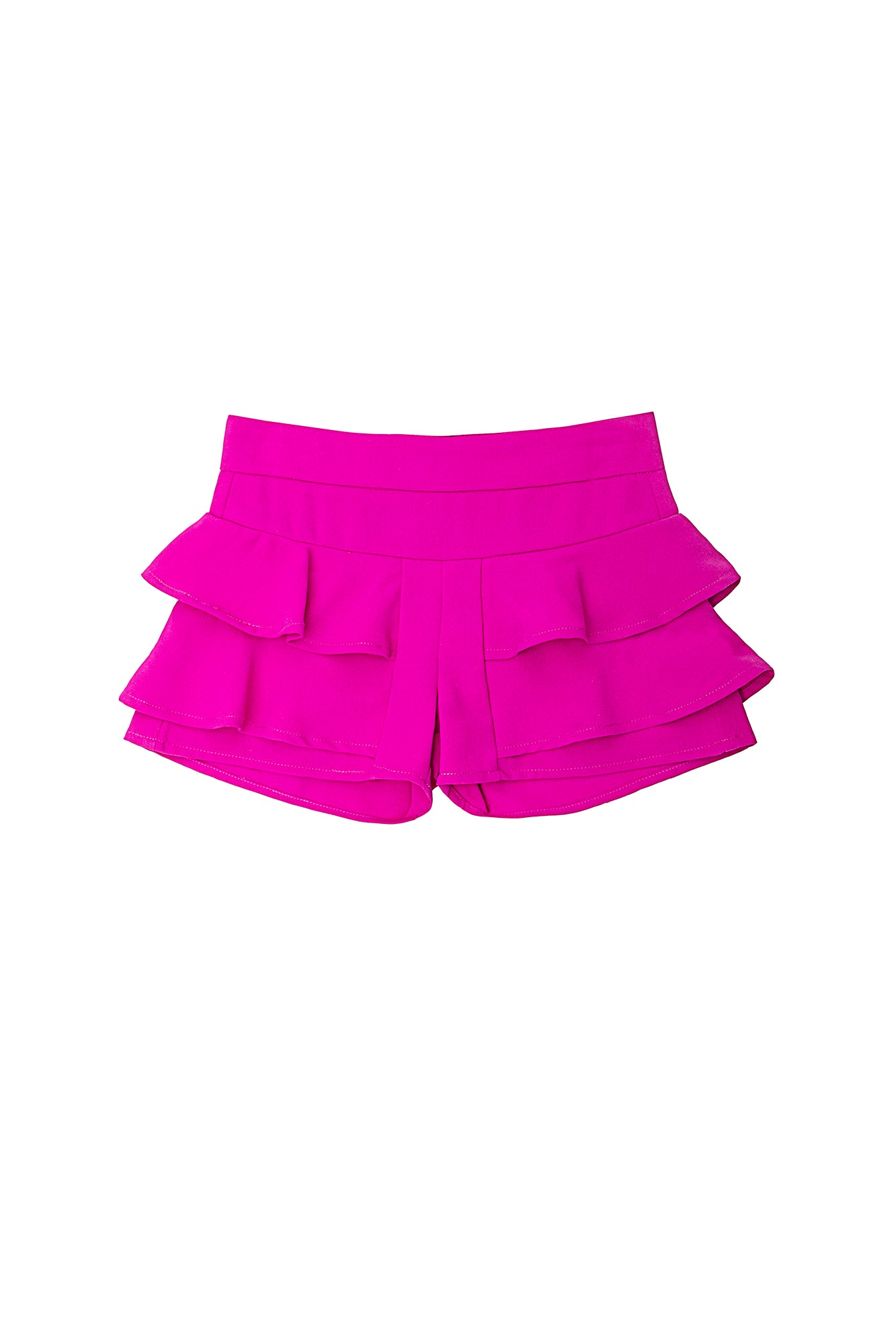 Girls Double Ruffle Short
