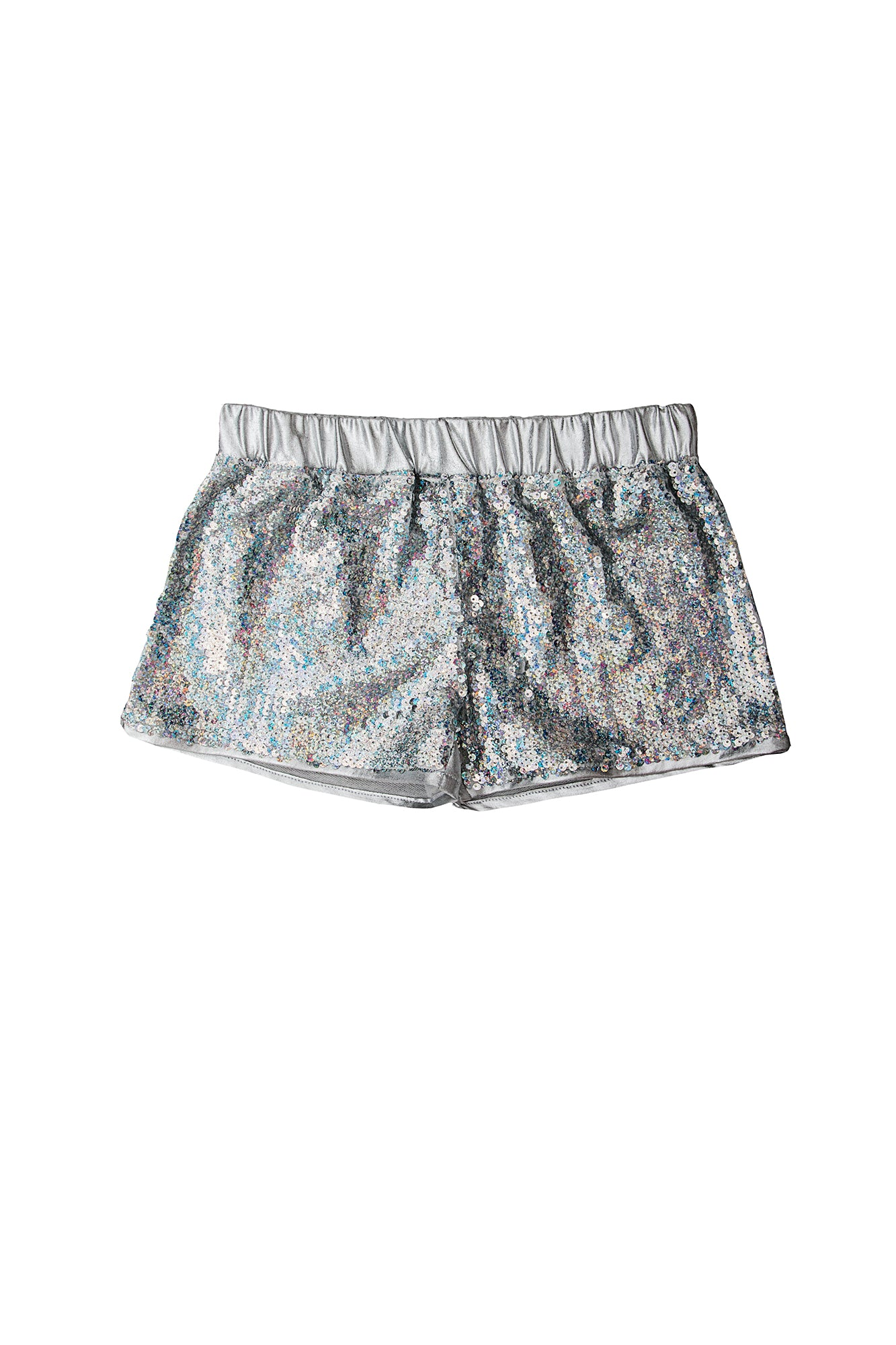 Girls Disco Short Silver