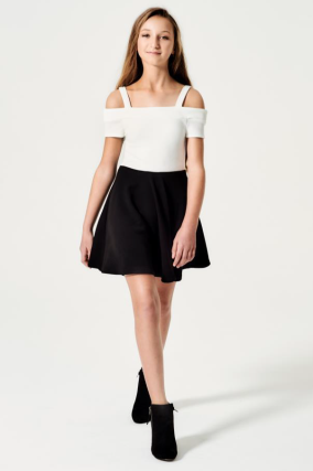 "Sally Miller ""The Eve Dress"" Black/Ivory"