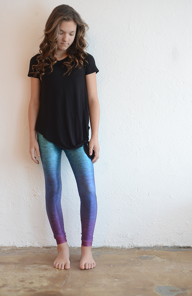 "Terez ""Heathered Rainbow Leggings"""