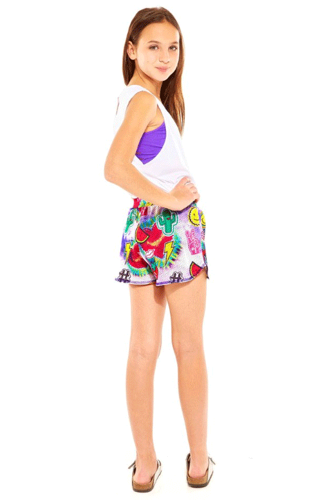 "Terez ""Tie Dye Patches Mesh Shorts"""