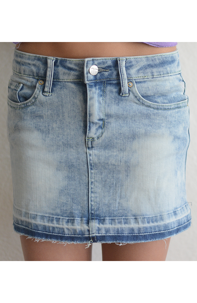 "Tractor ""Washed Out Mini Skirt"" Denim"