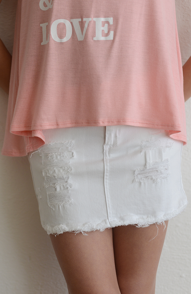 "Tractr ""White Mini Skirt"""
