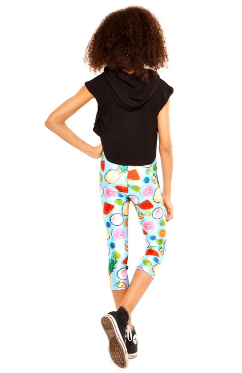 "Terez ""Tropical Fruits Capri Leggings"""