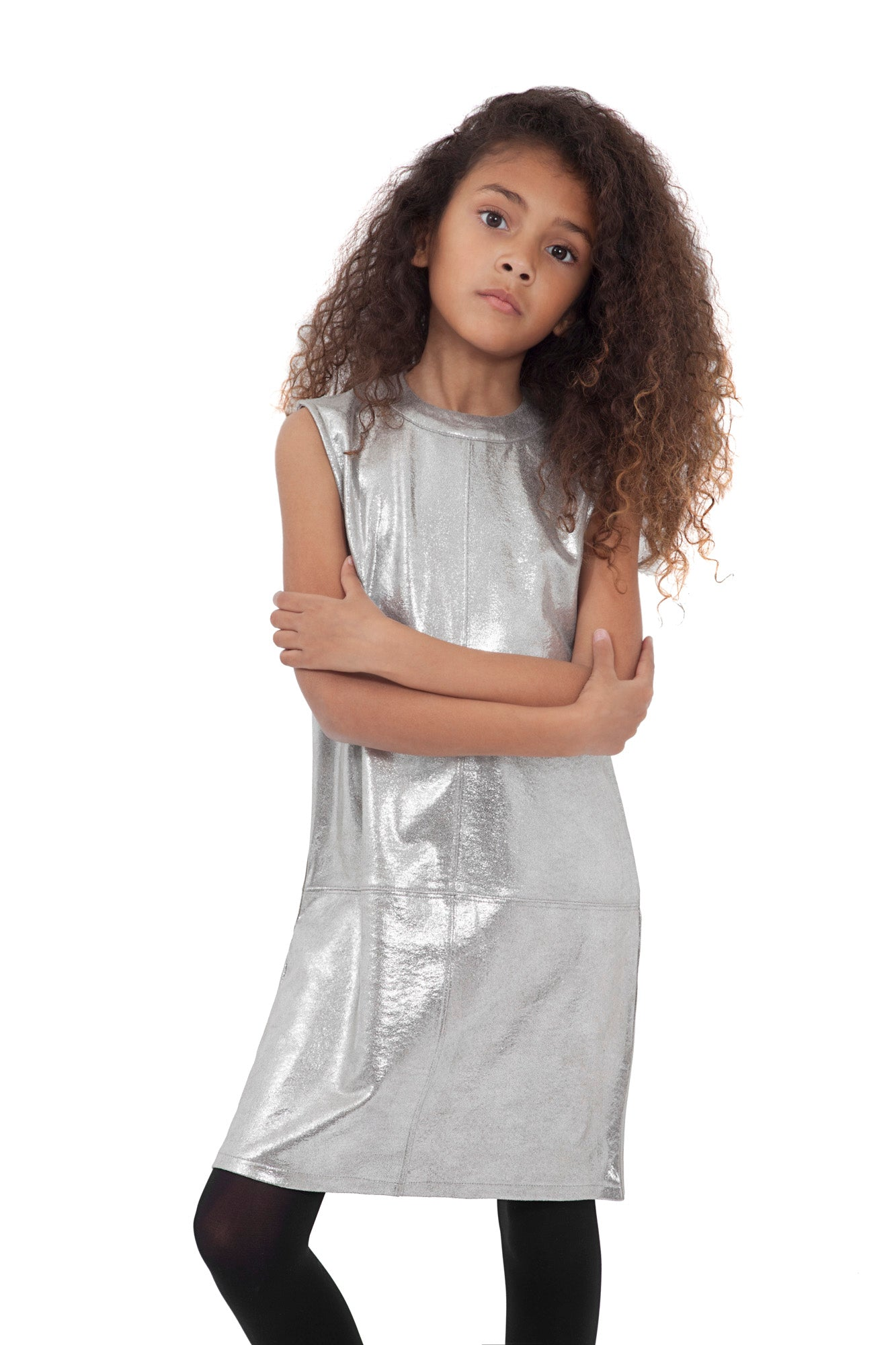 Tween Mod Dress ~ Silver
