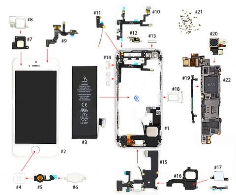 iPhone 5 Parts list