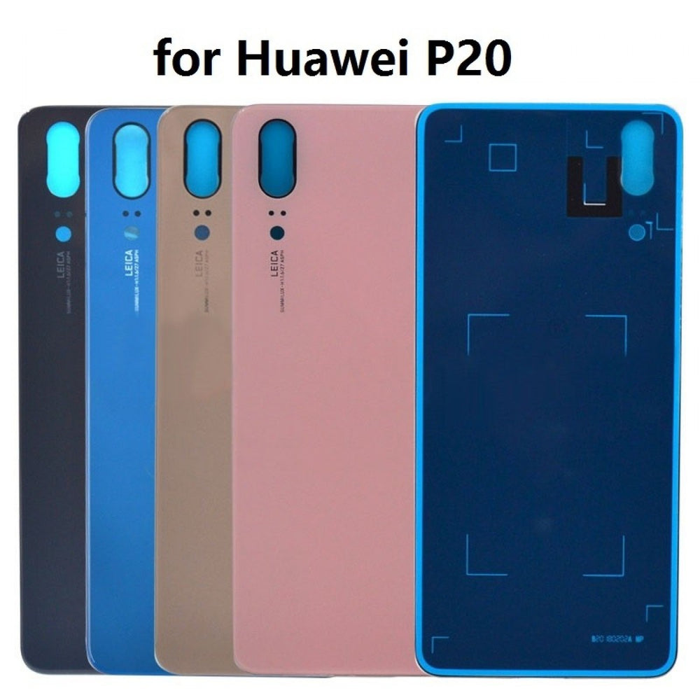Back Battery Cover With Camera Lens & Adhesive For Huawei P20