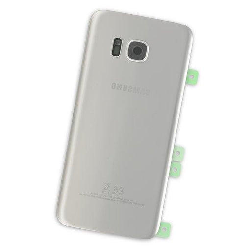 Galaxy S7 Edge Rear Glass Panel / Silver