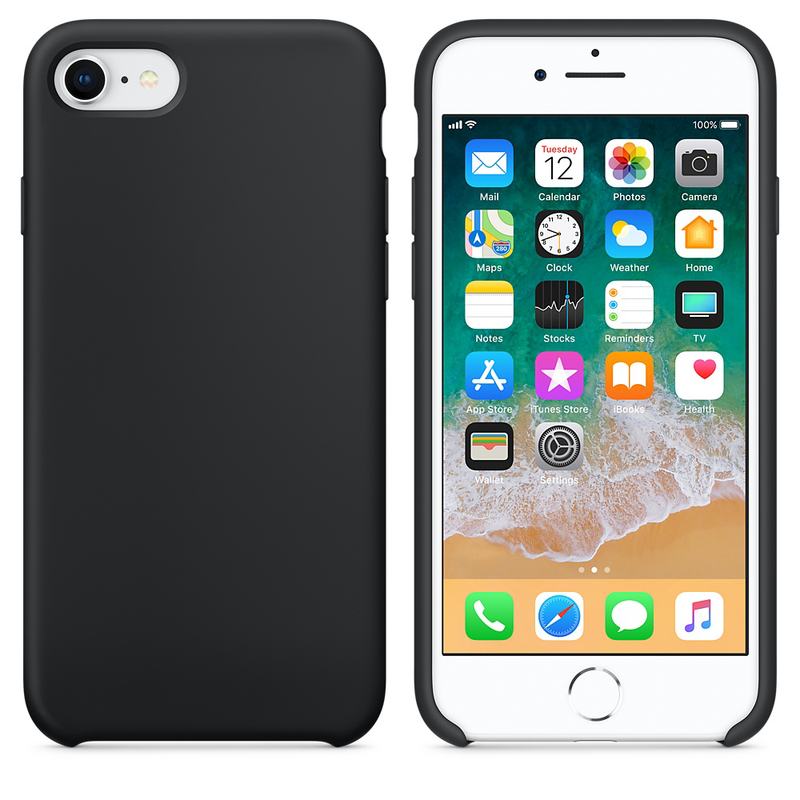 Silicone Case For iPhone Black