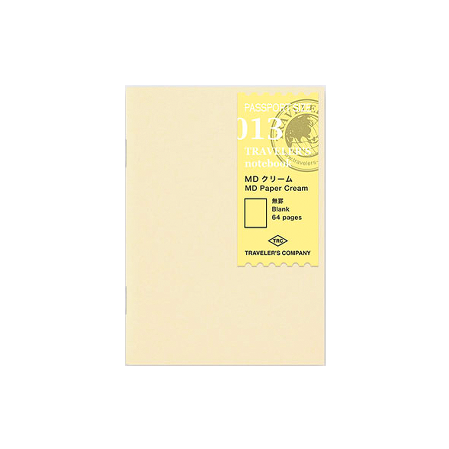 #013 Cream Blank Refill (Passport) - The Desk Bandit