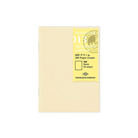 Traveler's Company #013 Cream Blank Refill (Passport) - The Desk Bandit