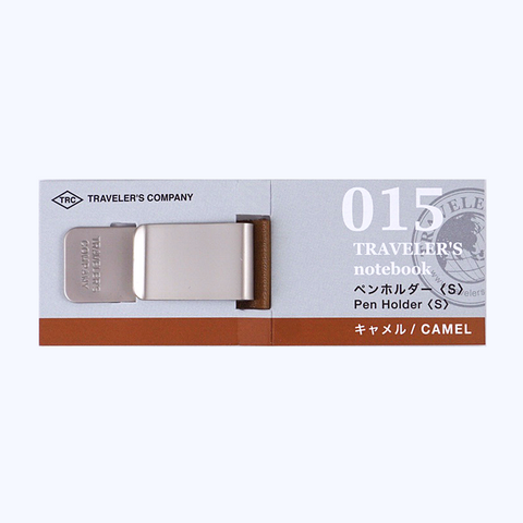 Traveler's Company #015 Pen Clip - Small (Camel) - The Desk Bandit
