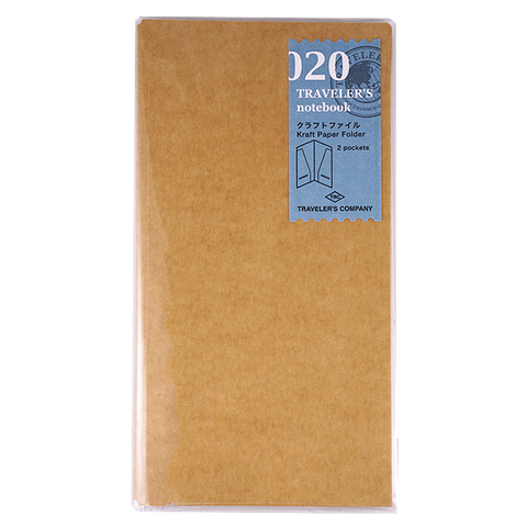Traveler's Company #020 Kraft Folder - The Desk Bandit