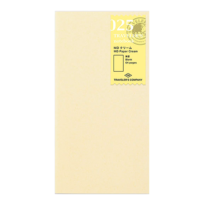 Traveler's Company #025 Cream Blank Refill (Regular) - The Desk Bandit