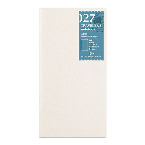 Traveler's Company #027 Watercolour Paper Refill (Regular) - The Desk Bandit