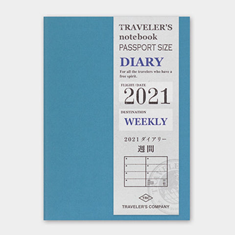 2021 Diary Weekly (Passport) - The Desk Bandit