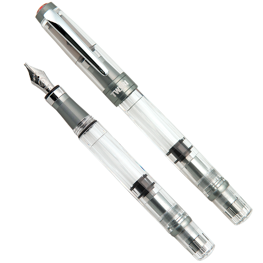 TWSBI Diamond 580 ALR (Nickel Gray) - Broad - The Desk Bandit