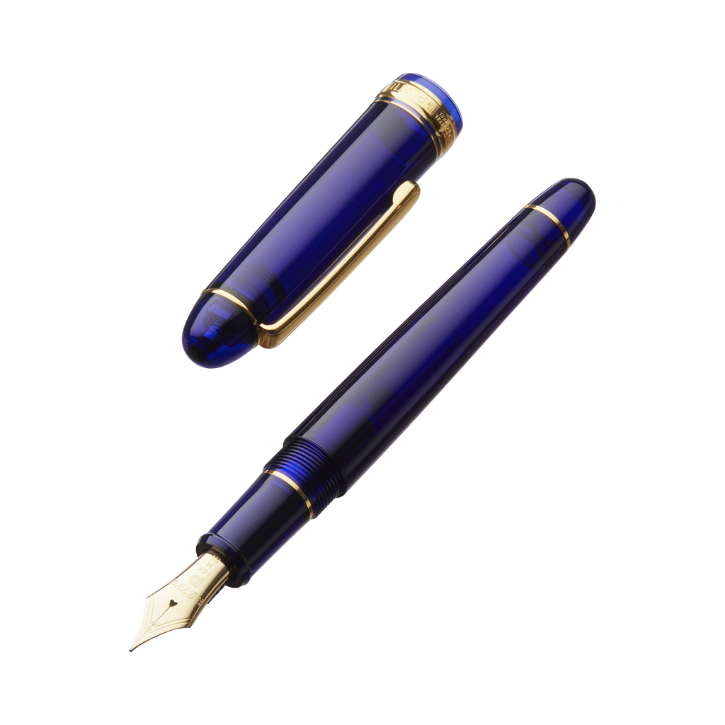 Platinum #3776 Century - Chartres Blue - Ultra Extra Fine - The Desk Bandit