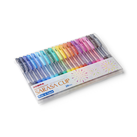 Zebra Sarasa Clip Gel Pens (20 Colour Set) - The Desk Bandit