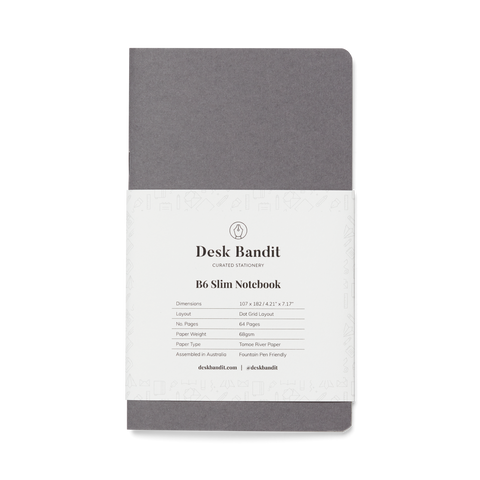 Desk Bandit Japanese-Milled 64gsm Notebook - B6 Slim (Dot Grid) - The Desk Bandit