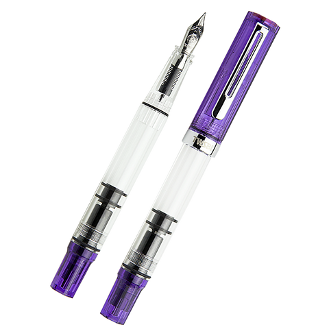TWSBI ECO (Transparent Purple) - Broad - The Desk Bandit