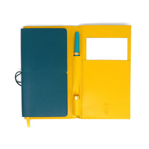 Ferris Wheel Press Nothing Left Fether Folio - Mustard Yellow - The Desk Bandit