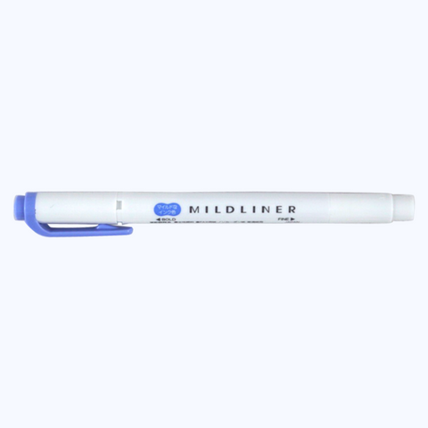 Zebra Mildliner - Dark Blue - The Desk Bandit