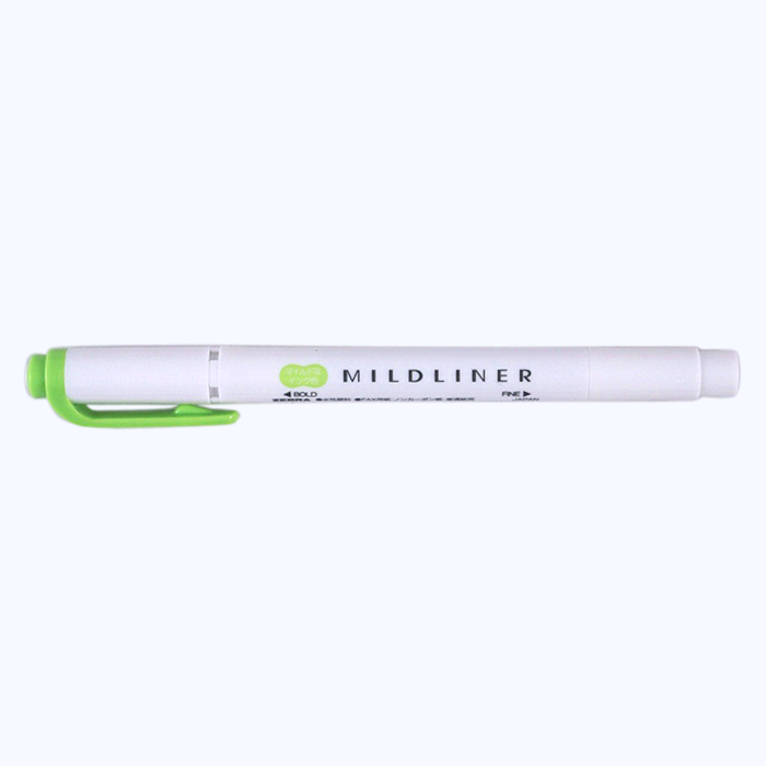Zebra Mildliner - Green - The Desk Bandit