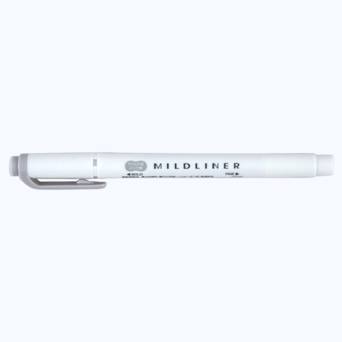 Zebra Mildliner - Grey - The Desk Bandit