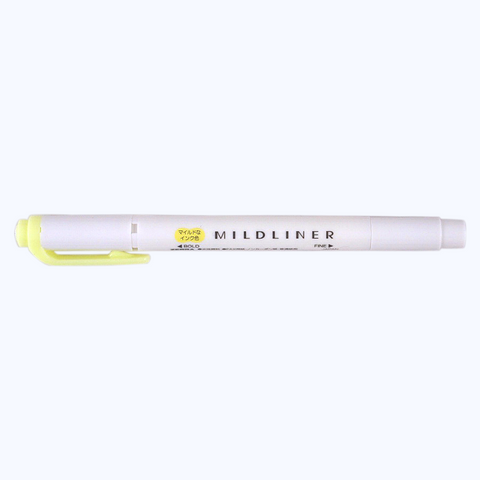 Zebra Mildliner - Yellow - The Desk Bandit