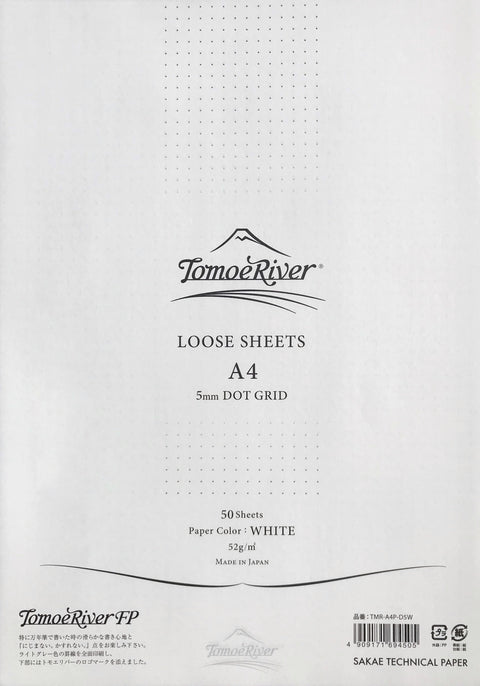 Tomoe River A4 White 52gsm - 50 Sheets (Dot Grid) - The Desk Bandit