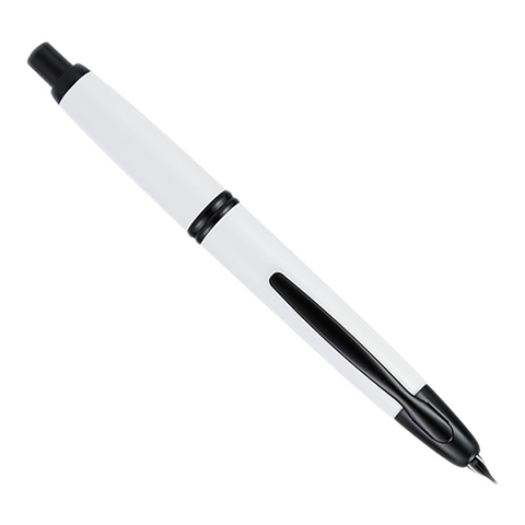 Pilot Vanishing Point - White/Black- Fine - The Desk Bandit