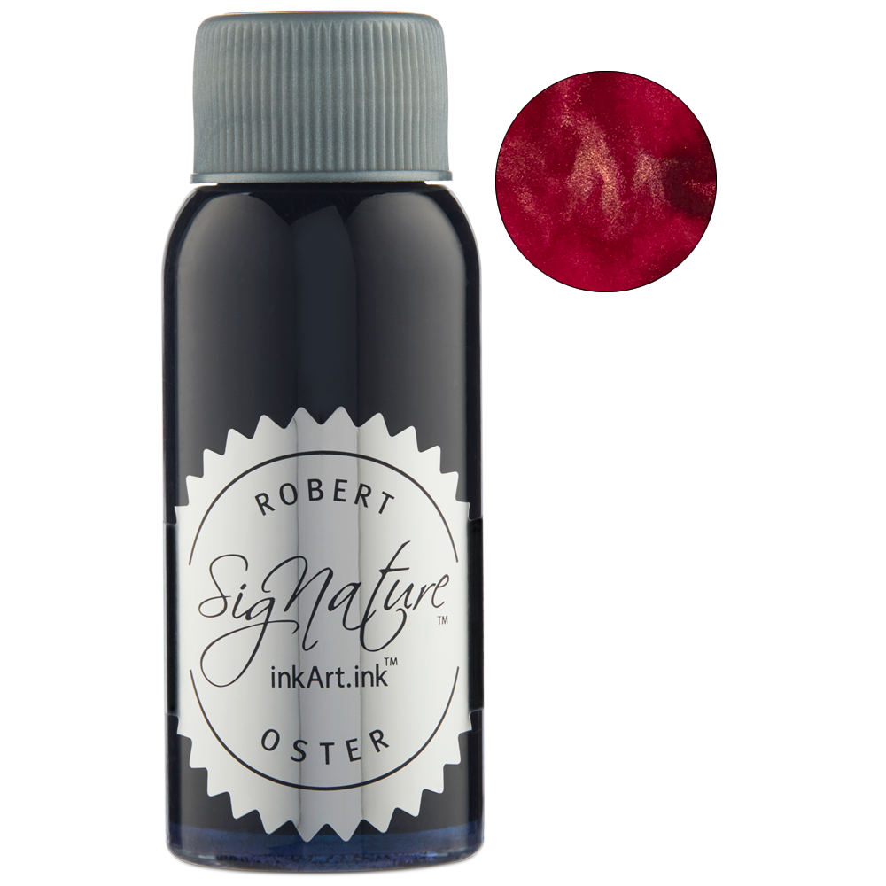 Robert Oster Shake 'N' Shimmy - Blood Rose (50ml) - The Desk Bandit
