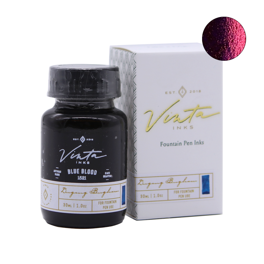 Vinta Inks Blue Blood (Dugong Bughaw 1521) - 30ml - The Desk Bandit