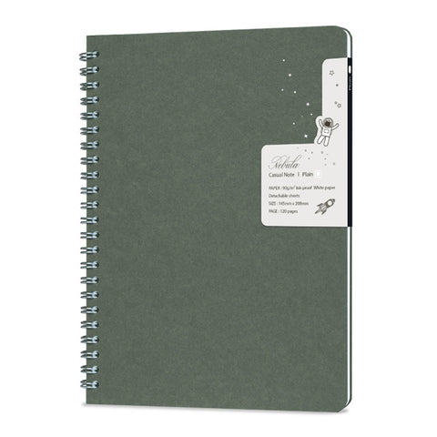 Nebula Casual Note - Blank (Large/Oil Green) - The Desk Bandit