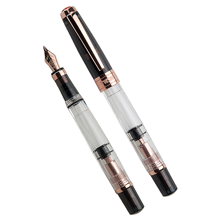 TWSBI Diamond 580 (Smoke/Rose Gold) - Broad - The Desk Bandit