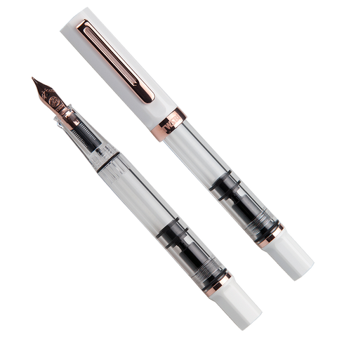 TWSBI ECO (White/ Rose Gold) - Broad - The Desk Bandit