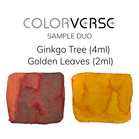 Colorverse Ginkgo Tree and Golden Leaves - 4ml + 2ml Sample Set - The Desk Bandit